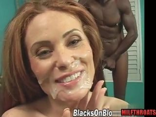 Super-naughty mummy multiracial with ejaculant shot