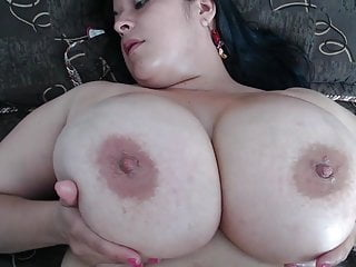 #2 plus-size mature with gigantic suspending mammaries and fat raw vagina
