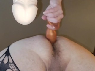 'Mistress pegging me deep in my manpussy wireon wire on yam-sized faux-cock femdom'