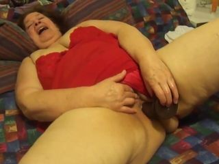 mexican granny loves to engulf dick and plays with her dildo