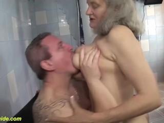'busty grandma raunchy fucked'