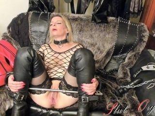 'Slave Slut-Orgasma Celeste drill Machine'