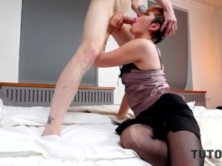 'TUTOR4K. Professor in tights is fucked highly hasty by college girl at home'