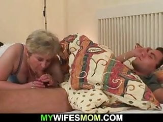Cock-hungry motherinlaw lures him