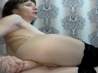Bashful mommy fisted herself stiff. Part 2