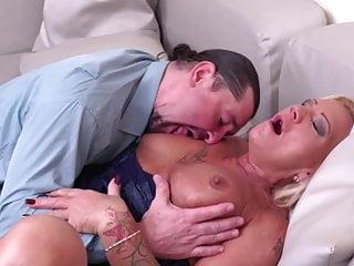 Modern grannie inhale and smash milky parent