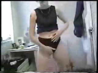 Vivienne attempting on underpants