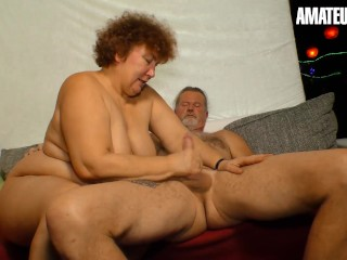 'XXXOmas - mischievous German Mature fellates And romps Her elderly paramour On Camera - AMATEUREURO'