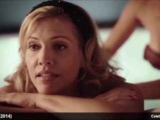 Celeb Actress Tricia Helfer & Jessica Sipos naked And warm romp vid
