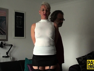 Mature face porked slave