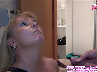 Enslaved german housewife urinate in throat in front of cougar