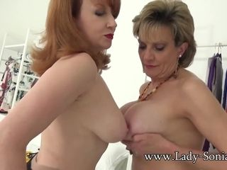 Gal Sonia and crimson hardcore striptease joy
