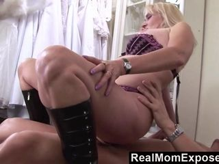 RealMomExposed  Lascivious milf gets her hairy pussy stuffed with cock
