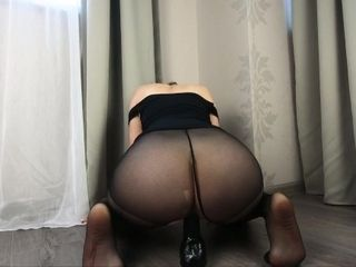 Cougar hopping on top of a immense fuck stick in stockings - CatherineRain