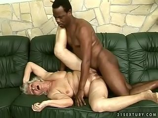 Interracial granny think the world of