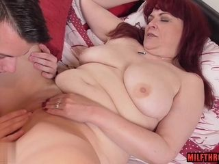 Titillating mother rigid pulverize and jizm shot