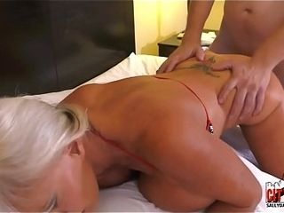 My gfs mommy II nutsack DEEP in her bootie
