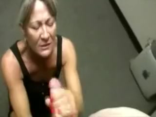 This mature bitch is still a bitch for rock hard meatpipe in her mitts