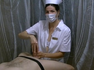 ANGRY cougar SURGICAL hooded NURSE GIVES hj