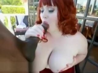 Hefty melon ginger-haired plumper luvs Big dark-hued pricks