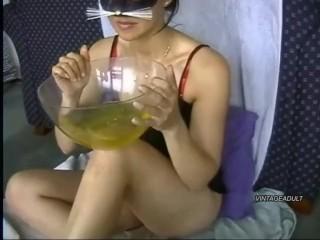 Pee drinking girl