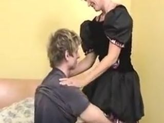 Nice grandma Maid In beautiful tights assfuck banged