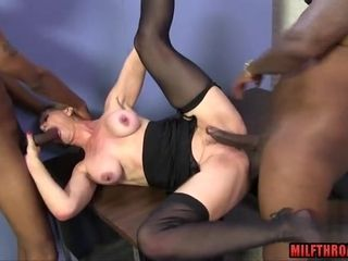 GILF Gets dual plowed By ebony penises
