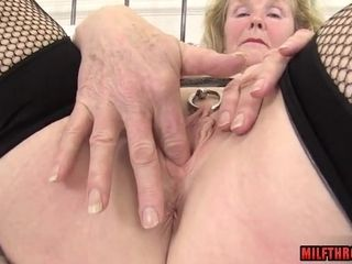 Lustful grannie With Pierced vulva