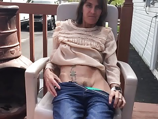 Skinny tattooed wife showing her tiny tits and hairy pussy
