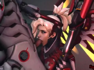 (Mercy) genji make her neat his cock and jism has sound