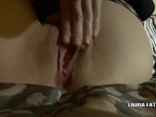 Extraordinary Close up gash ejaculation - Laura Fatalle