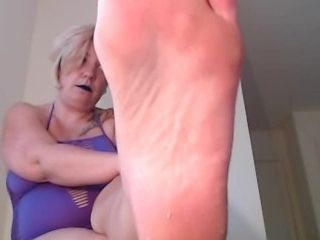 Female dominance Makes victim slurp soles point of view