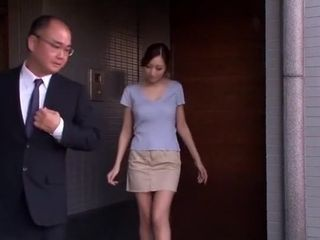 Hottest Japanese trull Julia give swelterscoriag Handjob, fat knockers JAV truss