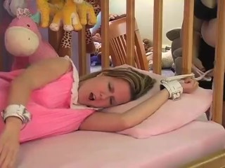 Kitty spanked increased by diapered affixing 2