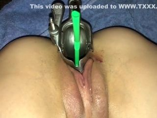 Guzzling champagne from my wife's cunt