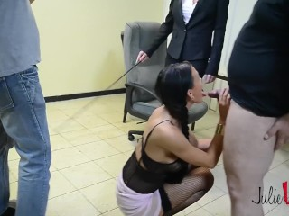 Julie-skyhigh-gangbang-6-slutty-secretary