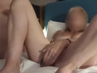 'Swinging Skype - Covid Safe Skype Swingers - Mature brit first-timer duo suck off, faux-cock & gash Play'