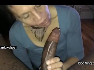 Mature call girl Blows My big black cock