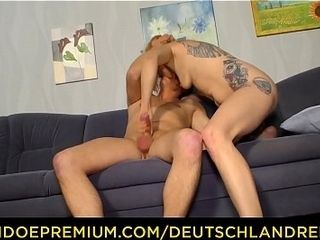 DEUTSCHLAND REPORT - insatiable German Mercedes Boode fellating Denny on the bed