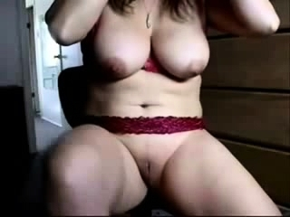 Mature plus-size with giant bra-stuffers