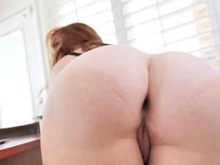 Kinky red-haired cougar step-mother helps a son about future