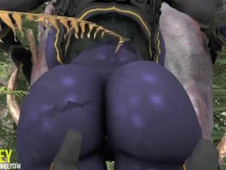 'SFM dark-hued ELF SITTING ON THE WRONG MUSHROOM Monster plumb 3 dimensional anime porn Cartoon'