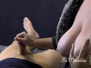 Take it on the lam imported Handjob everlasttriflesgly - POV obese heart of hearts up Handjob trifles 4K - illustrious Cumshot!