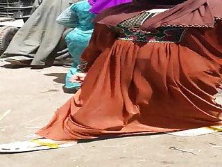 Hijab wifey wiggling her backside in street - Falaha Metnaka