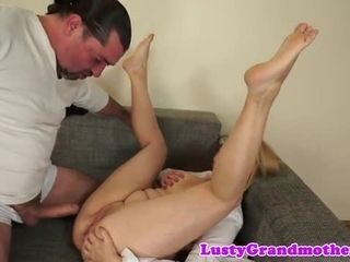 Cocksucking granny anally pounded