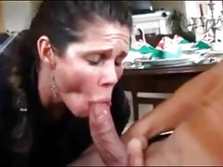 Old school mature premature ejac with simulated deepthroating added