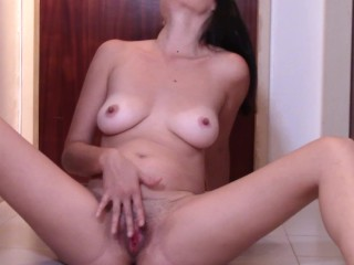 Mom urinates All Over the Floor After Her cootchie wide open climax