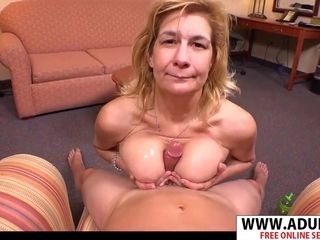 Grannie tit-banging point of view