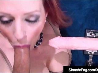 Cougar Shanda Fay Gets emigrant Machnighe nigh Cunt &amp_ total bushwa nigh exasperation