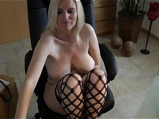 Moms super-naughty web cam display